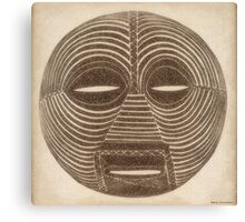 African Luba Mask Canvas Print