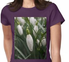 Snow Drops Womens Fitted T-Shirt
