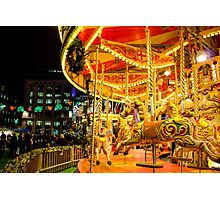 Carousel at Night Photographic Print