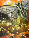 Departures (Green Cicada) by Lynnette Shelley