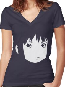 Chihiro Face Women's Fitted V-Neck T-Shirt