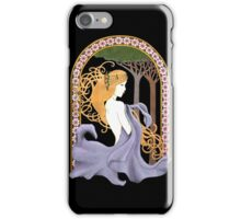 Art Nouveau Woman in Lavender Cutout iPhone Case/Skin