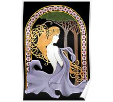 Art Nouveau Woman in Lavender Cutout Poster