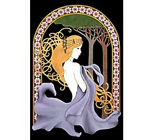 Art Nouveau Woman in Lavender Cutout Photographic Print
