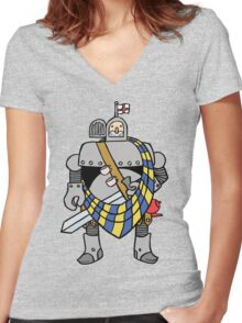 English Knight Women's Fitted V-Neck T-Shirt