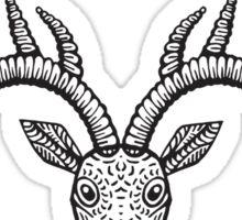 Monochrome Stag Sticker