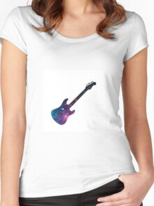 Galaxy Guitar Women's Fitted Scoop T-Shirt