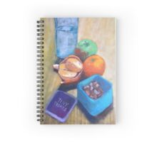 Snack Pot Acrylic Style  Spiral Notebook
