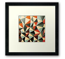 Modern Abstract Triangle Pattern Framed Print