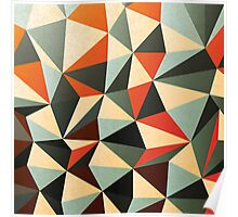 Abstract Diamond Pattern Poster