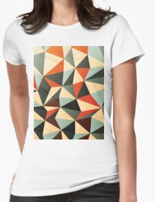 Modern Abstract Triangle Pattern Womens Fitted T-Shirt