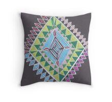 Trippy Design Throw Pillow