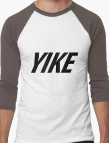 Yike, Nike parody. Men's Baseball ¾ T-Shirt