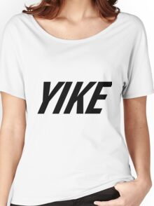 Yike, Nike parody. Women's Relaxed Fit T-Shirt