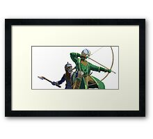 Legolas and Gimli Framed Print