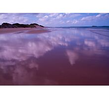 Cloudy Reflection on the Sea Shore Photographic Print
