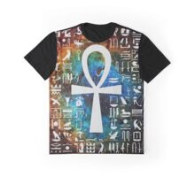 Egyptian Cross Galaxy Graphic T-Shirt