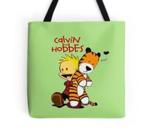 Calvin and Hobbes doll Tote Bag