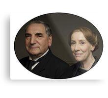 """Mr Carson e Mrs Hughes"" Downton Abbey Metal Print"
