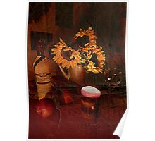Sunflowers by Candlelight Poster