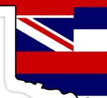 Hawaii flag Oklahoma outline Sticker