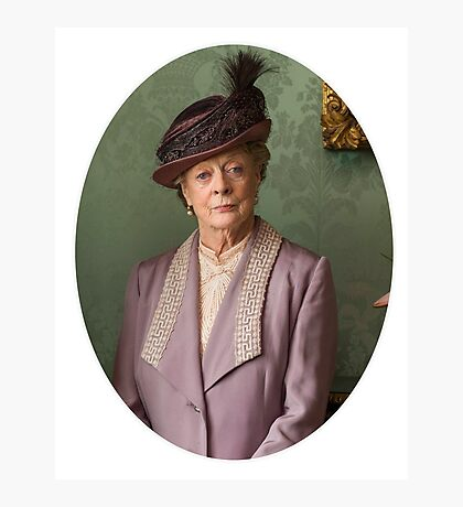 Lady Violet Downton Abbey Photographic Print