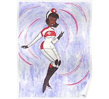 Nurse Laura Sonic Waves Poster
