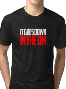 IT GOES DOWN IN THE DM Tri-blend T-Shirt