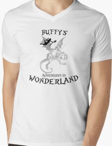 Buffy's  Adventures in Wonderland Mens V-Neck T-Shirt
