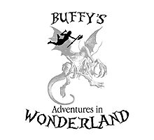 Buffy's  Adventures in Wonderland Photographic Print