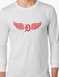 Detroit D Wing Long Sleeve T-Shirt