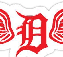 Detroit D Wing Sticker