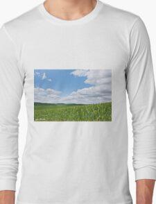 Rolling Wheatfields in the Palouse Long Sleeve T-Shirt