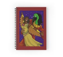 Thoth and Ma'at's Dance Spiral Notebook