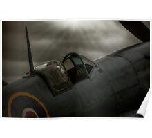 Reconnaissance Spitfire Cockpit Poster