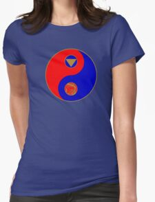 Rocky's Ranger Power Yin Yang Womens Fitted T-Shirt