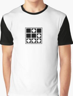 Glider - Pixelated, Black Graphic T-Shirt
