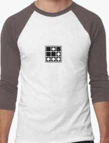 Glider - Pixelated, Black Men's Baseball ¾ T-Shirt