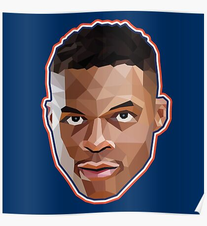 Russell Westbrook Lowpoly Poster