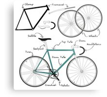 Fixie Bike anatomy Metal Print