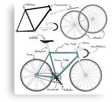 Fixie Bike anatomy Metal Print