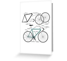 Fixie Bike anatomy Greeting Card