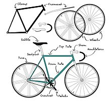 Fixie Bike anatomy Photographic Print