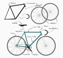 Fixie Bike anatomy One Piece - Long Sleeve