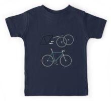 Fixie Bike anatomy Kids Tee