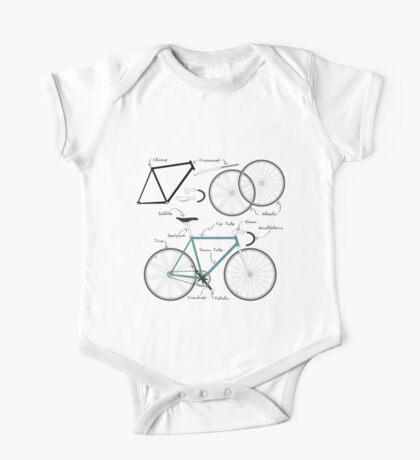 Fixie Bike anatomy One Piece - Short Sleeve