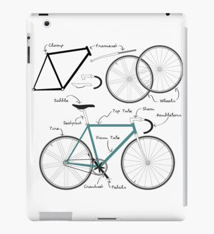 Fixie Bike anatomy iPad Case/Skin