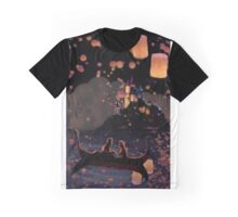 Floating Lanterns Graphic T-Shirt