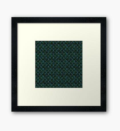 Murky Mermaid Scales Framed Print