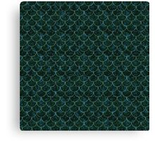 Murky Mermaid Scales Canvas Print